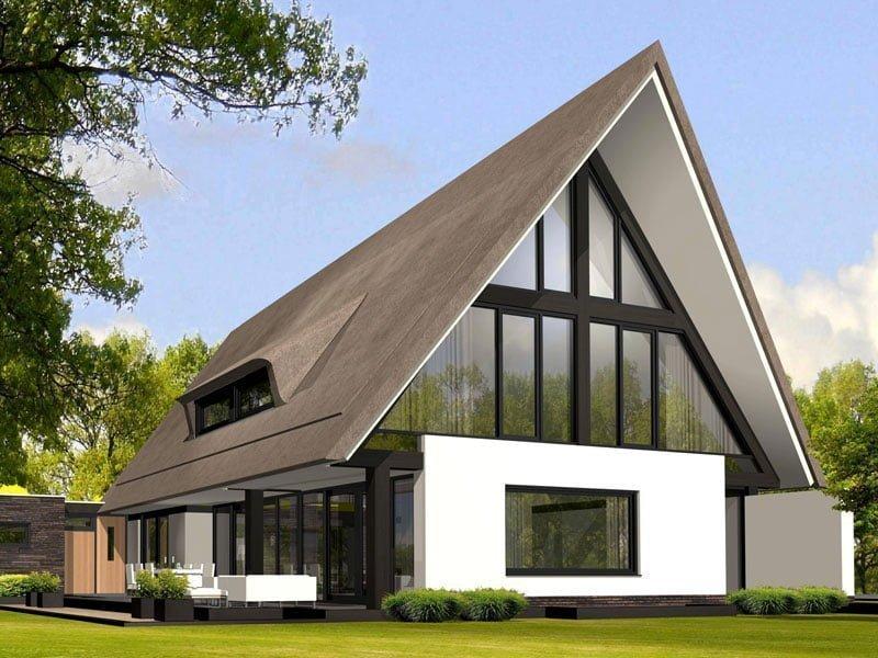 IBOC constructie moderne rietgekapte villa Schoppers constructie en advies