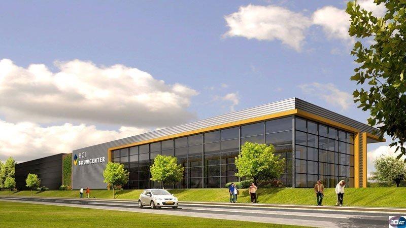 IBOC Nieuwbouw showroom en magazijn HCI Bouwcenter Schoppers constructie advies