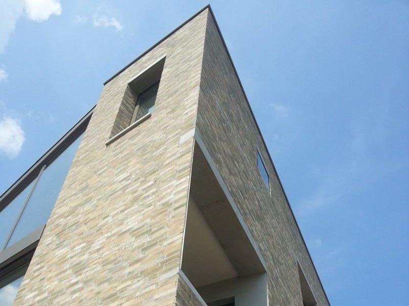 IBOC modern landgoed in bos kubistisch kasteelmuur Gerrit Jan ter Horst