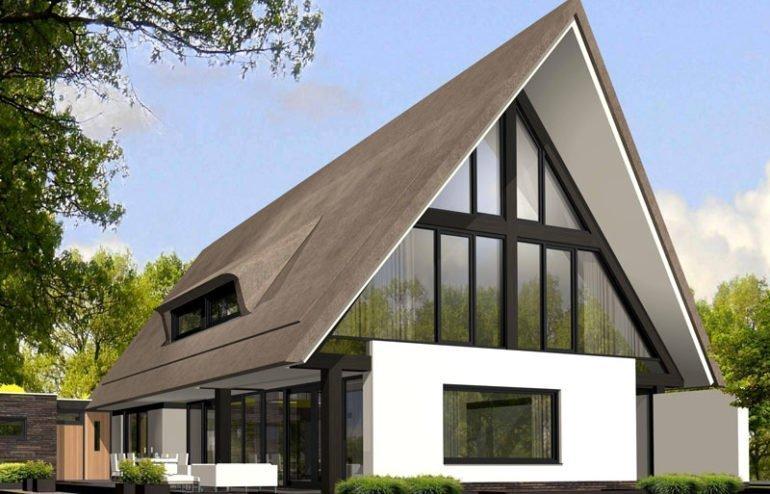 IBOC modern rietgedekt villa wit gestuct zwarte spanten Gerrit Jan ter Horst