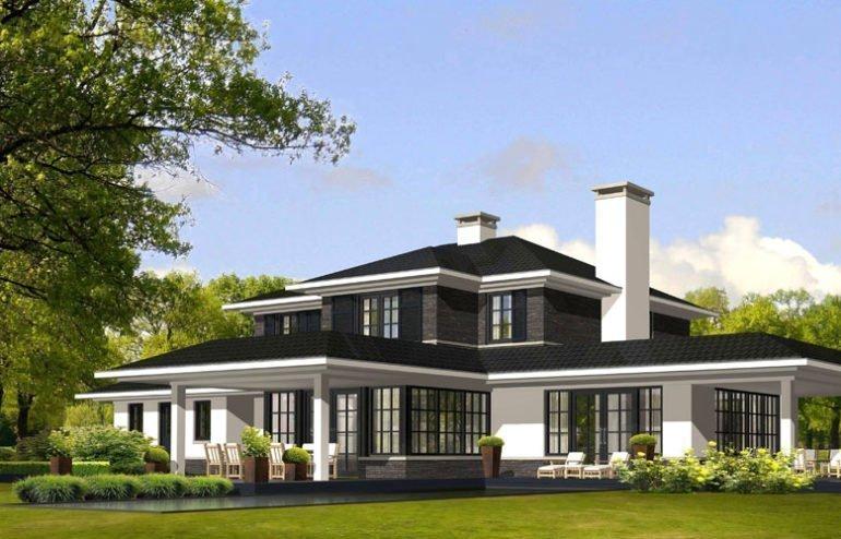 IBOC villa amerikaanse stijl FLW vlakke daken overstekken Gerrit Jan ter Horst