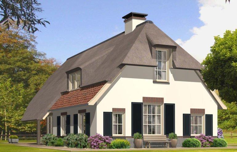 IBOC wit rustiek boerderijtje rieten dak zwarte schuur Gerrit Jan ter Horst