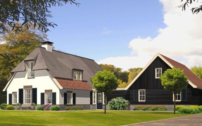 wit rustiek boerderijtje rieten dak zwarte schuur Gerrit Jan ter Horst Zoowonen